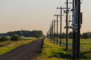 Township roads and powerlines