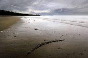 Agate Beach with dark clouds