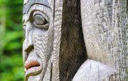 Section of Haisla Totem Pole